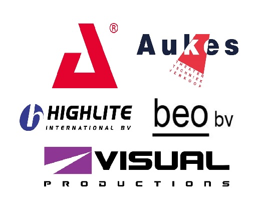 AED, Aukes Theatertechniek, Highlite International, BEO Brackman Electronics Optics, Visual Productions